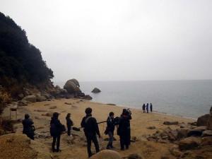 象岩でのロケ