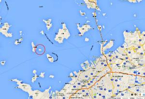 無人島小島の地図