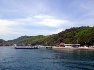 讃岐広島江の浦港へ