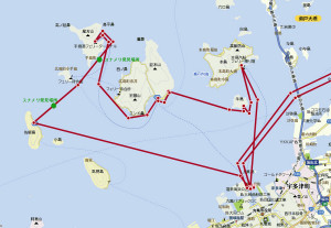 塩飽諸島めぐり地図