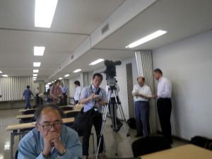 講習会会場にはメディアの人たちが・・
