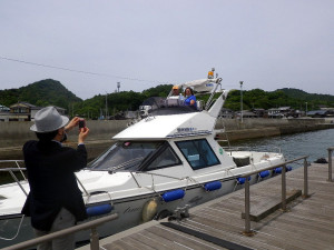 直島本村港にて