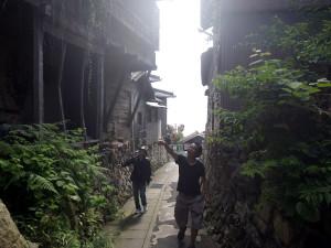 男木島の坂道